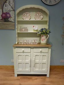Beautiful Shabby Chic Painted Priory Welsh Dutch Small Farmhouse Dresser