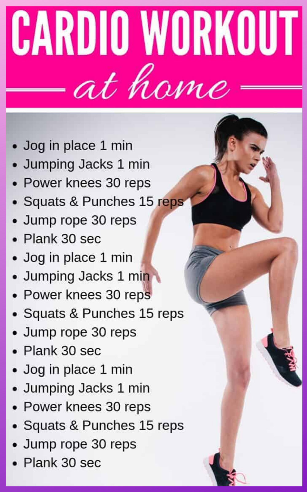 Easy Beginner Cardio Workout Plan at Home