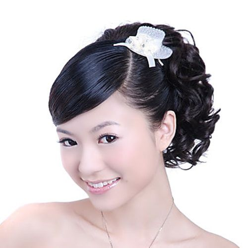 Synthetic Hairpiece - Dark Coffee Curly Ponytail – WigSuperDeal.com