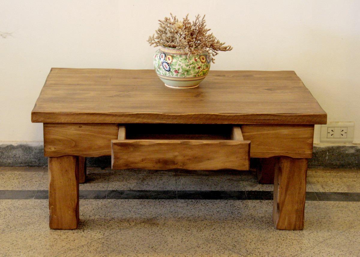madera mesa ratona rustica