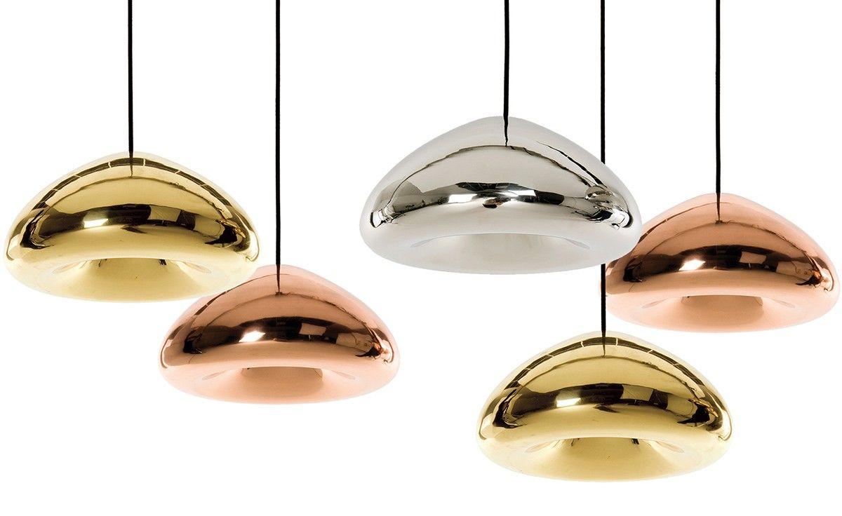 Tom Dixon Void Pendant Light In Chrome Or Copper Pendant Light Modern Pendant Lamps Metal Pendant Light