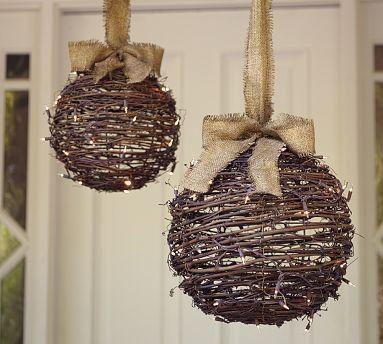 Hechas a mano en mimbre cintas en yute toque natural - Decoracion navidad moderna ...
