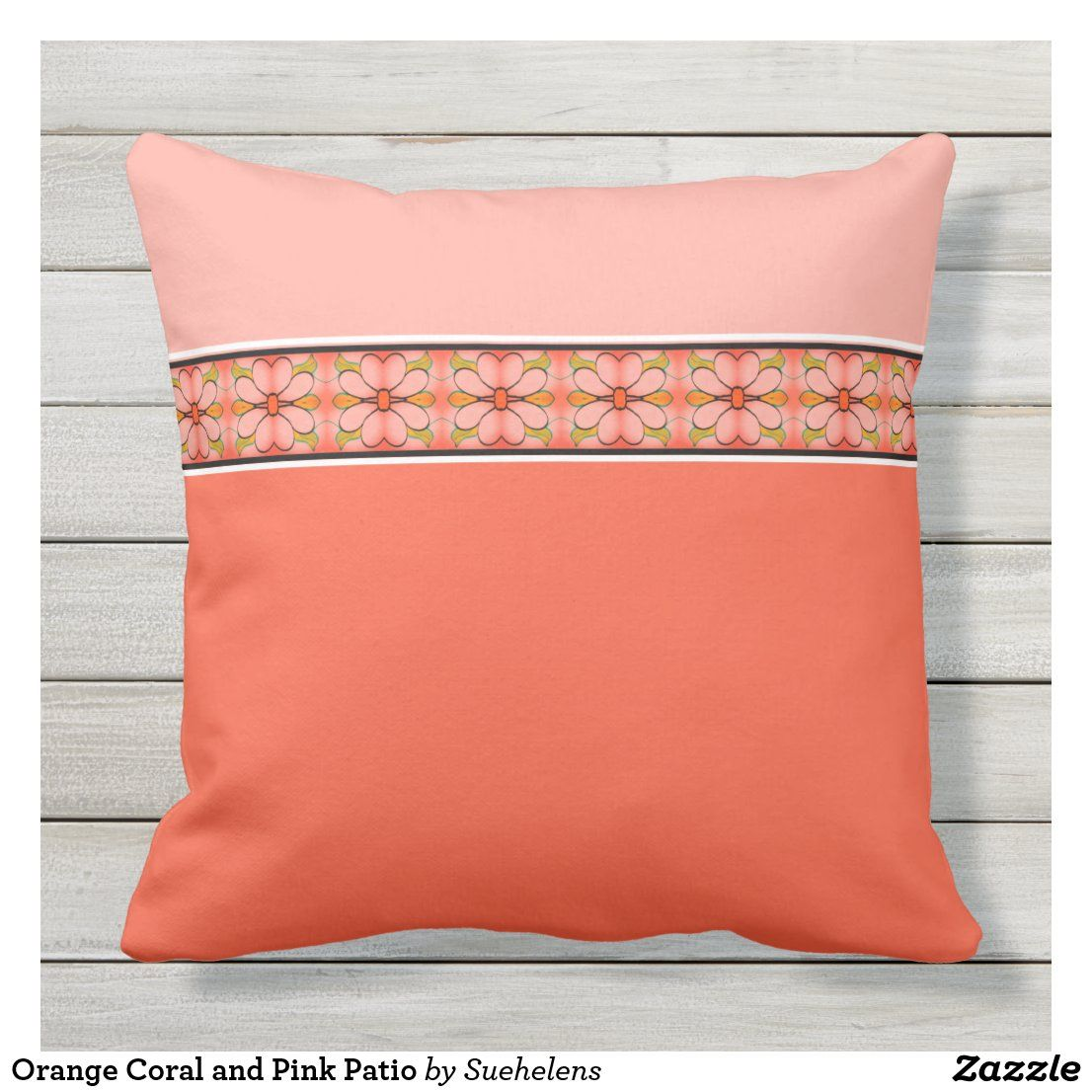 ORANGE Throw Pillows CORAL Outdoor