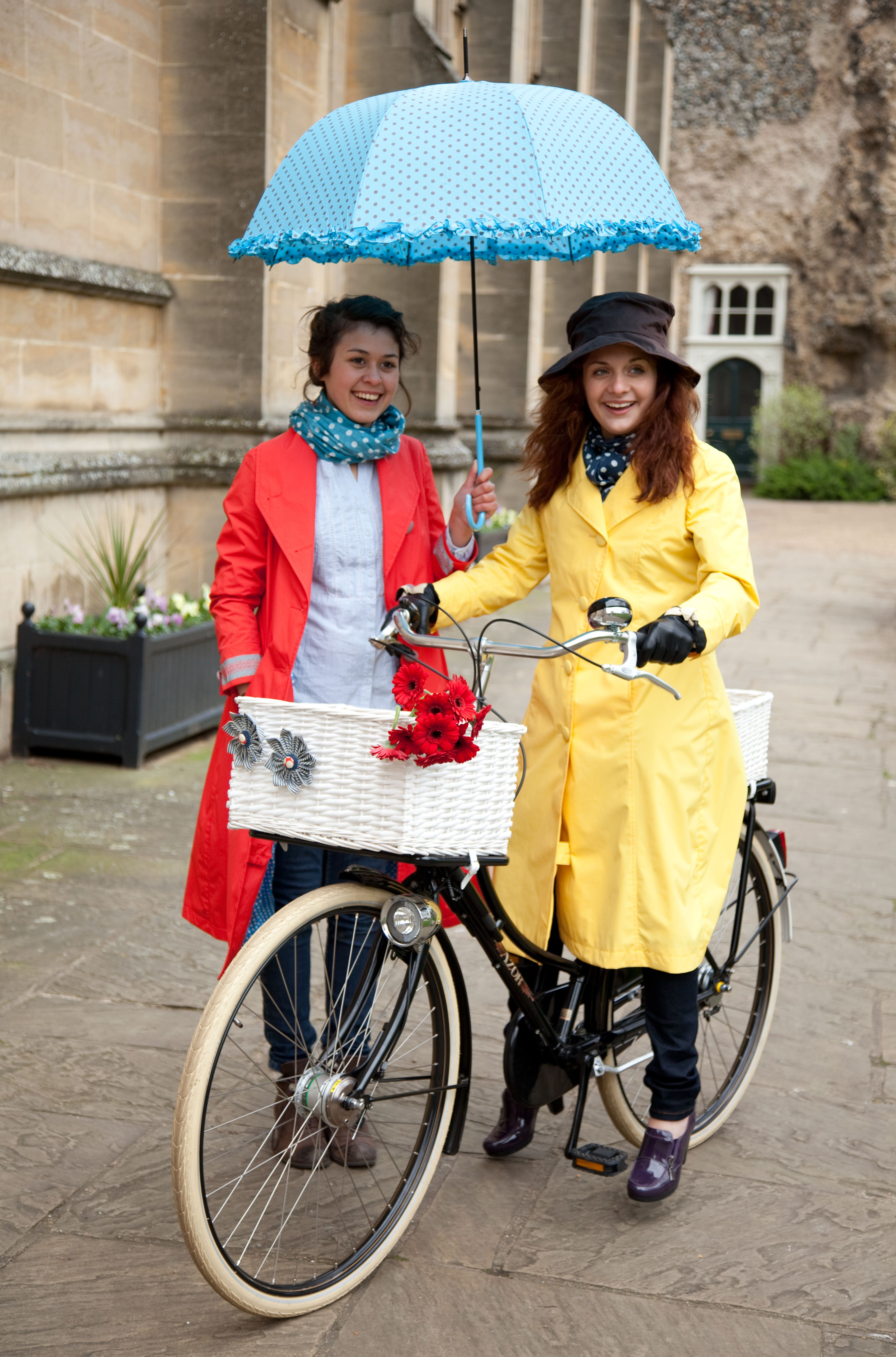 Cambridge Raincoats - the original fashion raincoat for those who ride upright bicycles. Made in England.