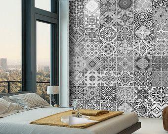 Kitchen Backsplash Tiles   Backsplash Decal   Backsplash Tile   Portuguese  Tiles   Vinyl Backsplash   Vinyl Tiles   Pack Of 48  SKU:APATiles