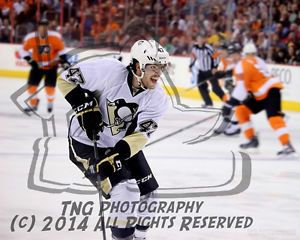 NHL Player Simon Despres of the Pittsburgh Penguins Hockey Club |   Unsigned 8x10 Photo Hockey Art Print