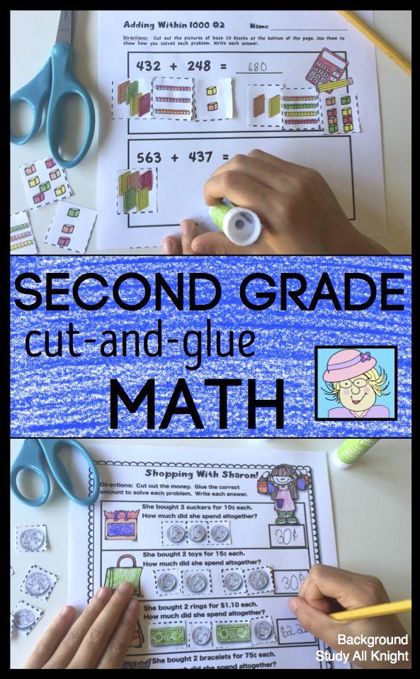 Second Grade Math | Math workbook, Math and Common core standards