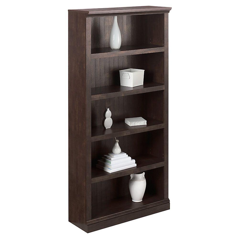 Realspace Premium Wide Bookcase 5 Shelf 72 1 8 H X 35 3 8 W X