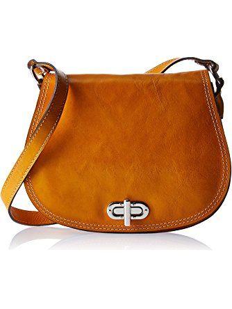 c1954373a8 Floto Women's Saddle Bag in Yellow Italian Calfskin Leather - handbag  shoulder bag ❤ .
