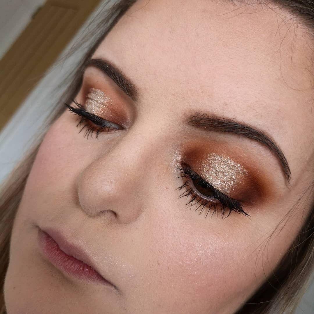 Halo eyeshadow, bronze and gold smokey eye! Check