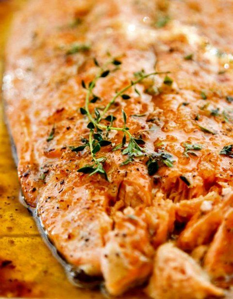 Broiled Salmon with Honey and Garlic - just 5 ingredients ...