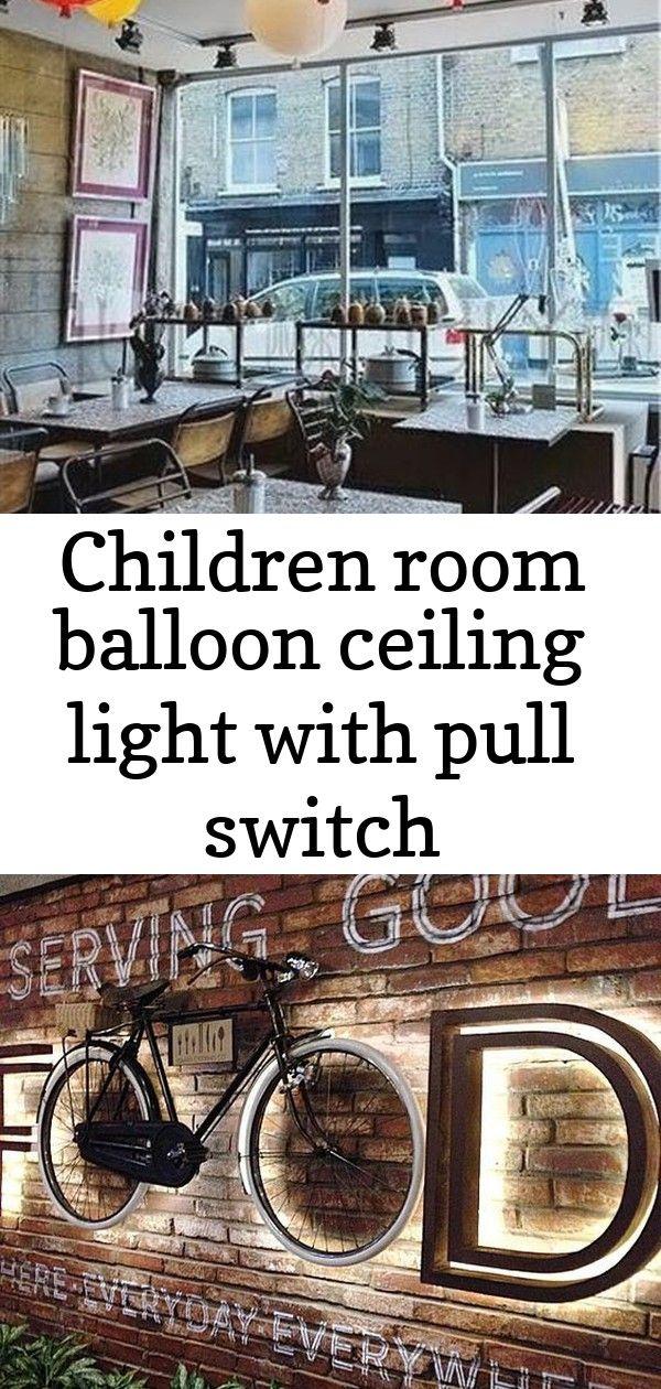 Plafonnier ballon enfant avec interrupteur à tirette