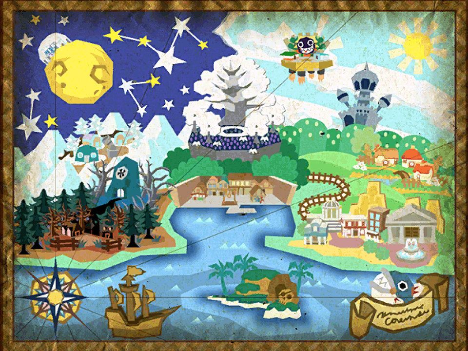 Paper Mario The Thousand-Year Door Map Video Game Poster 24x18 by Nerdemia 22.00  sc 1 st  Pinterest & Paper Mario: The Thousand-Year Door Map Video Game Poster 24x18 by ...