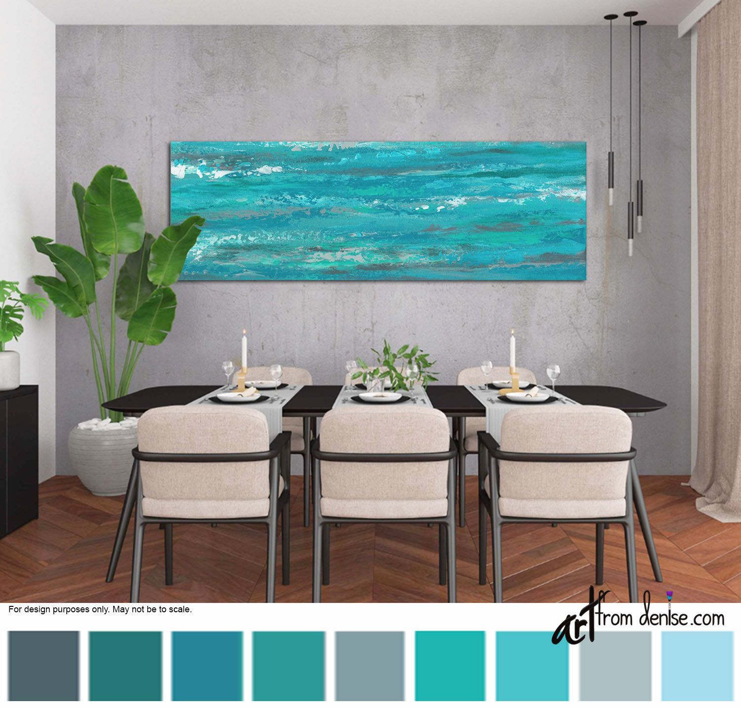 10+ Stunning Teal Wall Art For Living Room