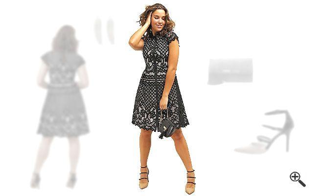 Kleider in Größe 50 + Outfits die schlanker machen für... http://www ...