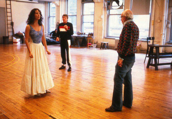 Original Broadway Rehearsals. SARAH BRIGHTMAN (Christine), MICHAEL CRAWFORD (The Phantom) and HAROLD PRINCE Photo Credit: CLIVE BARDA