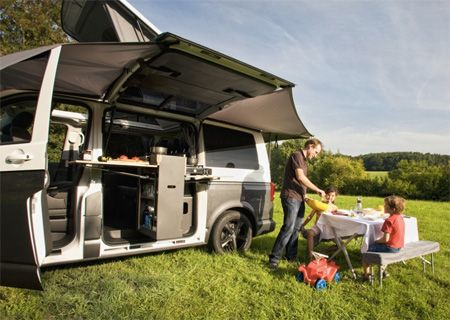 der spacecamper vw t5 camping ausbau reisemobil. Black Bedroom Furniture Sets. Home Design Ideas