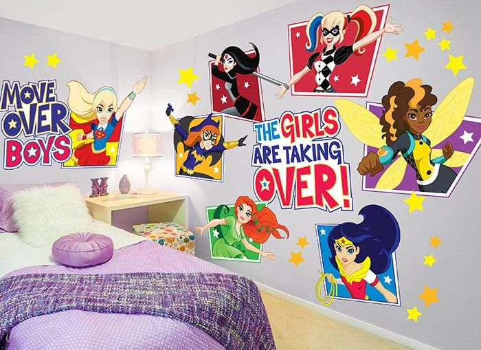 Move Over Boys The Girls Are Taking Over With This Awesome Set Of - Large superhero wall decals
