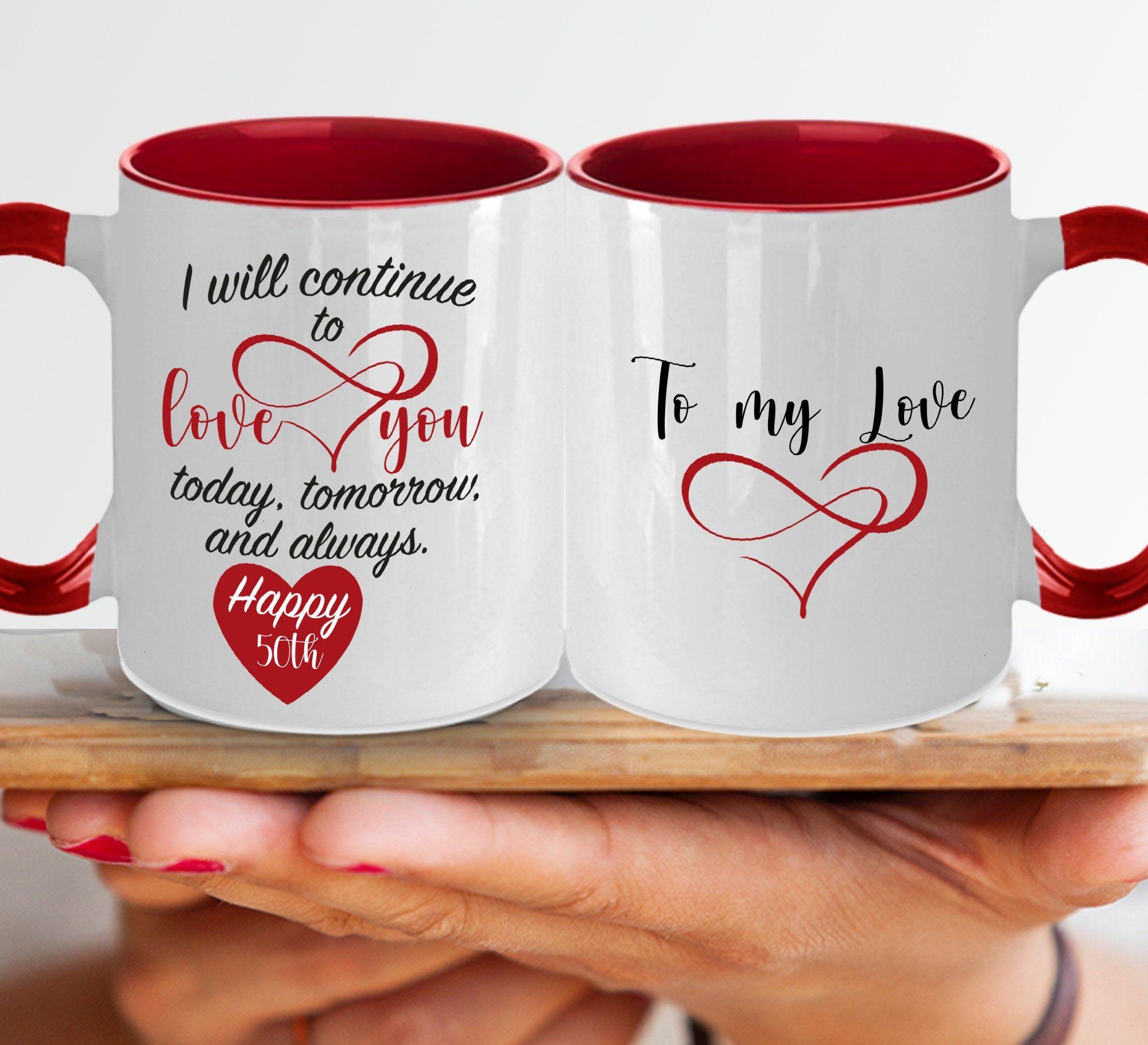50th anniversary gift for her birthday mug for women