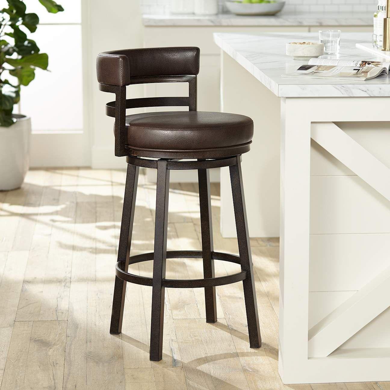 Furniture Remarkable Ideas Of Swivel Bar Stools With Backs Giving Cool Design Swivel Bar Stools With Backs L Ultimas Tendencias Decoracion De Unas Tendencias