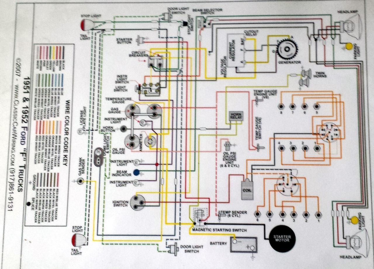 Wiring Diagram For 1952 Ford F4 Google Search Classic Trucks Diagram Ford