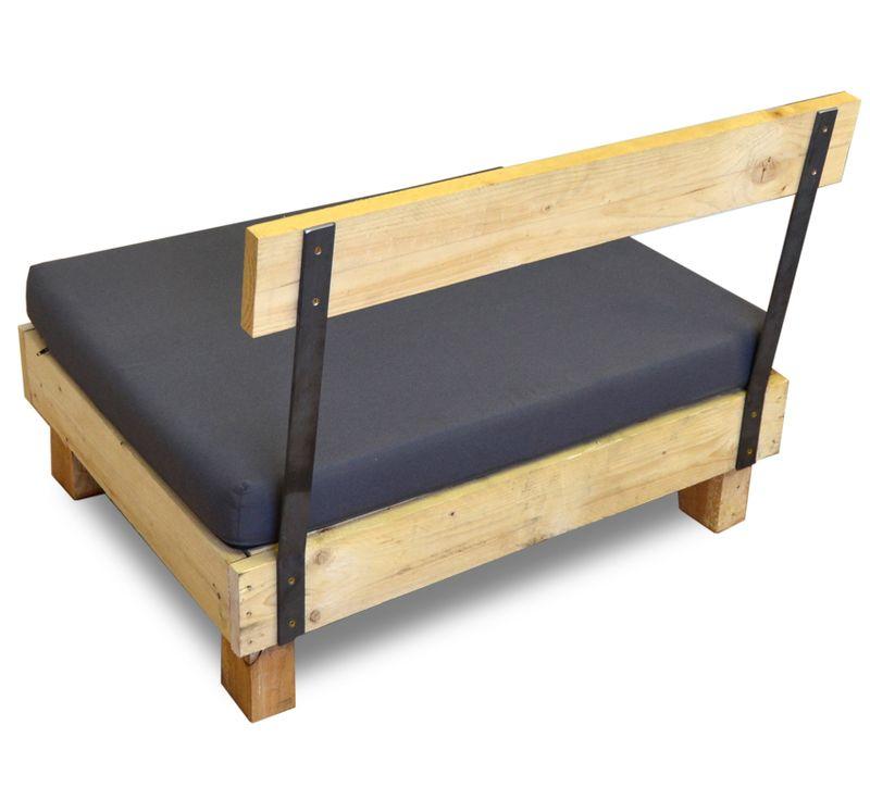 Respaldo para sofá, elaborado en madera de pino con pletinas de ...