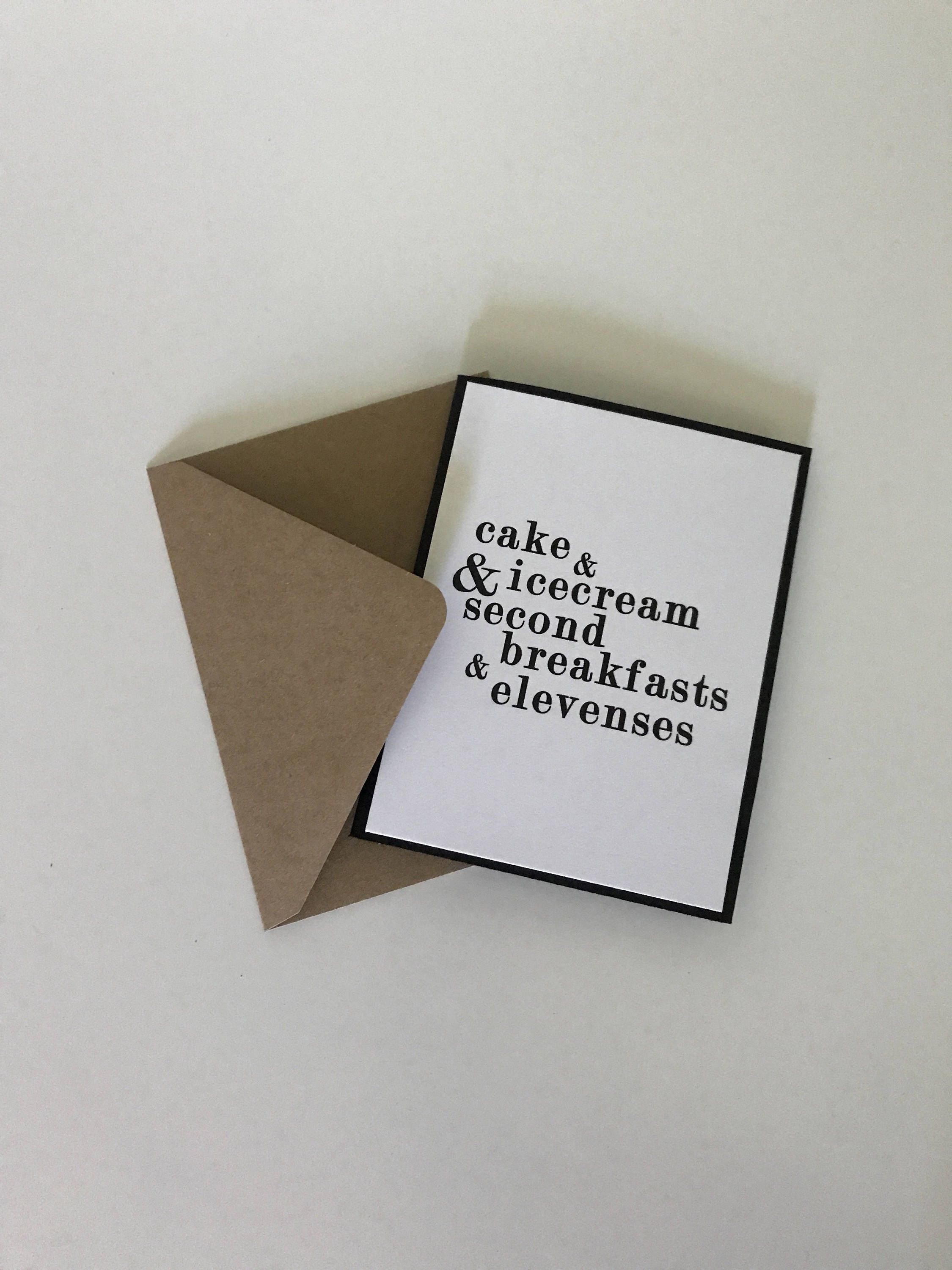 Second Breakfast Lord Of The Rings The Hobbit Funny Birthday Card By Litcardsco On Etsy Funny Birthday Cards Birthday Cards Hobbit Funny