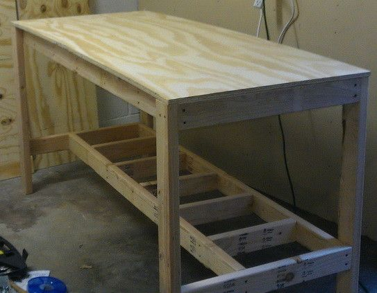 Enjoyable We Then Attached The 6 Foot By 30 Deep Top Plywood Board In Ibusinesslaw Wood Chair Design Ideas Ibusinesslaworg