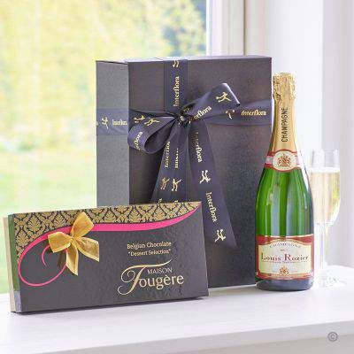 Champagne And Dessert Chocolates Gift Set Booker Flowers