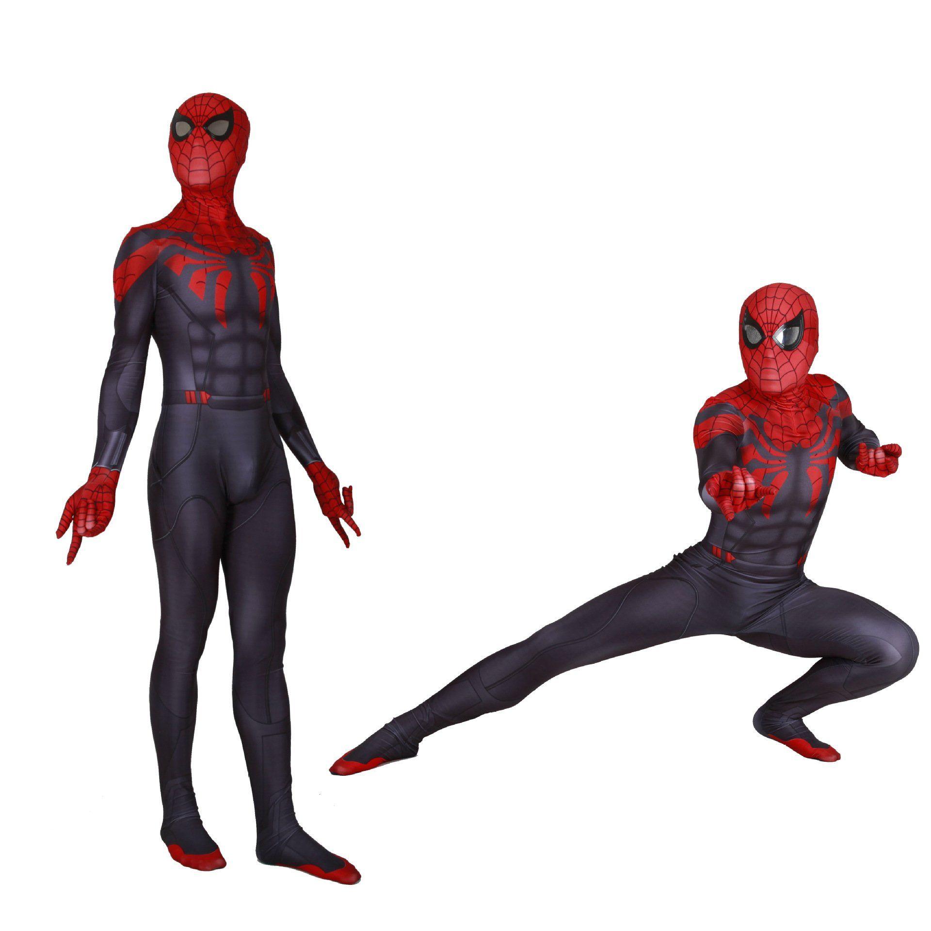 Superior Spider-Man Costume Halloween Cosplay Spiderman Bodysuit Spandex Suit