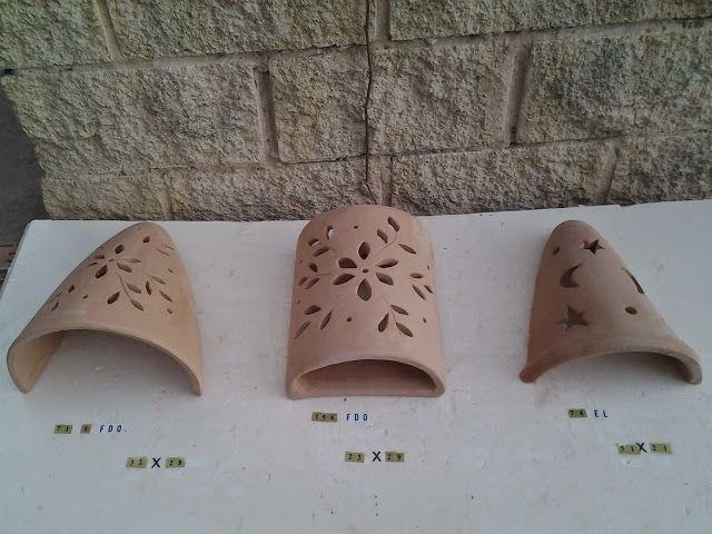 Apliques De Terracota Lamparas Rusticas Para Jardin Faroles De Barro Lamparas De Ceramica Disenos De Ceramica Ceramica De Barro