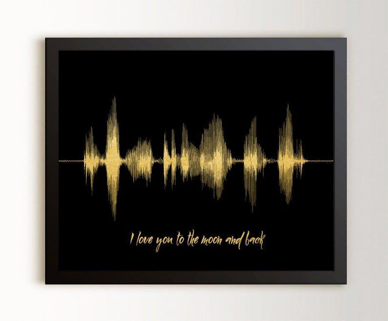 Soundwave Art Gift for Husband 5 Senses Gift Voice Recording Gift Birthday Gift for Boyfriend