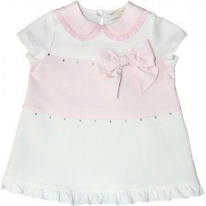 Girls dresses and skirts - Monnalisa Pink Stripe Dress