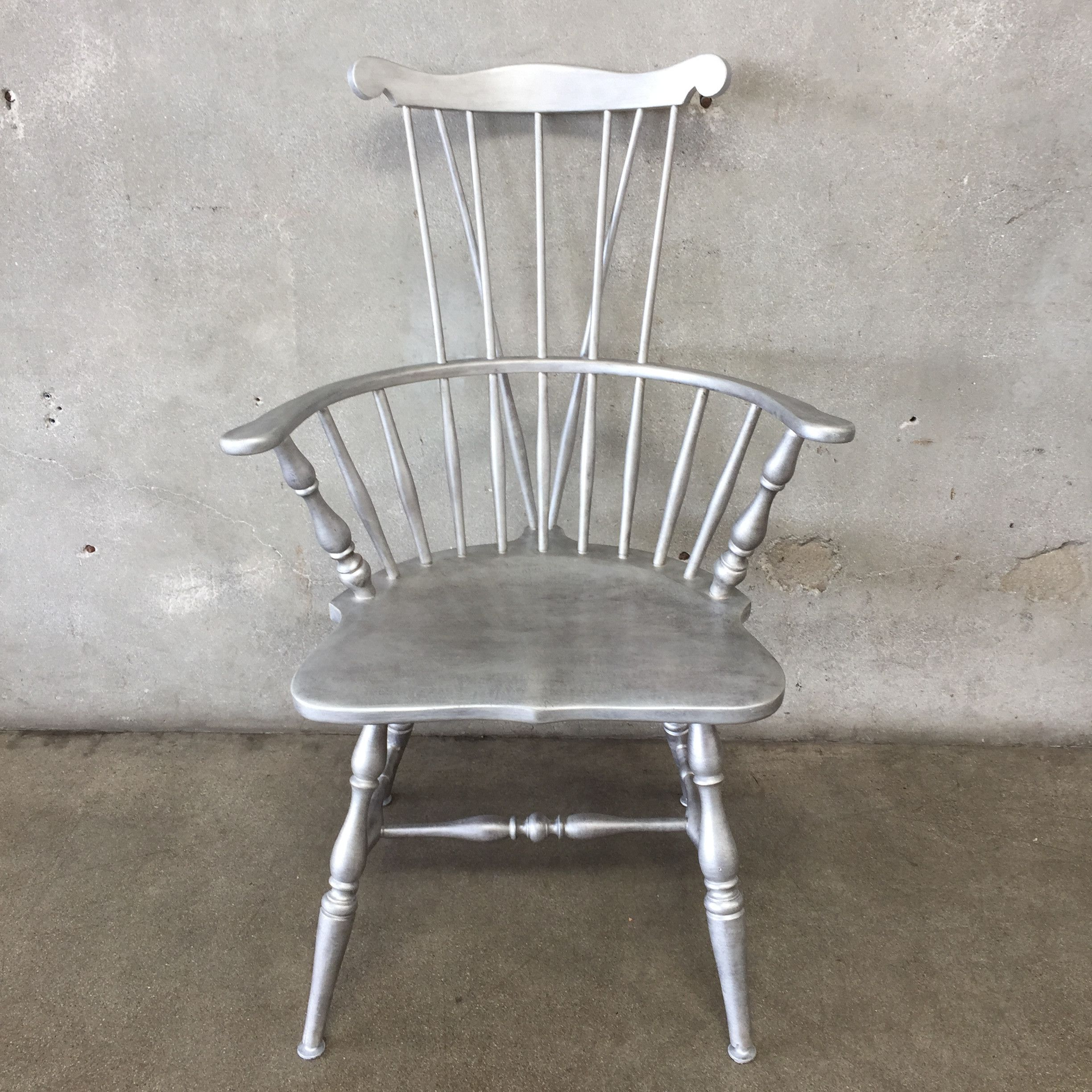 upcycled windsor style chair color brushed nickle products