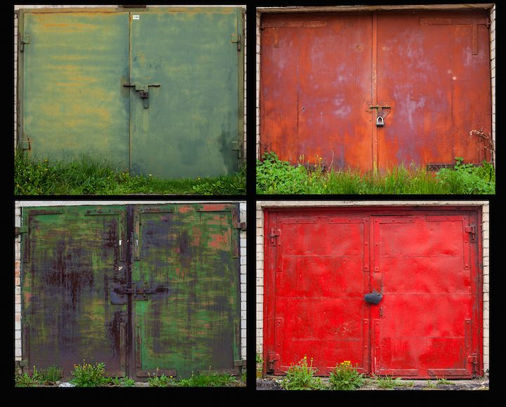 Weathered Beauty of 500 Colorful Garage Doors Withstanding the Test - Oeil De Porte D Entree