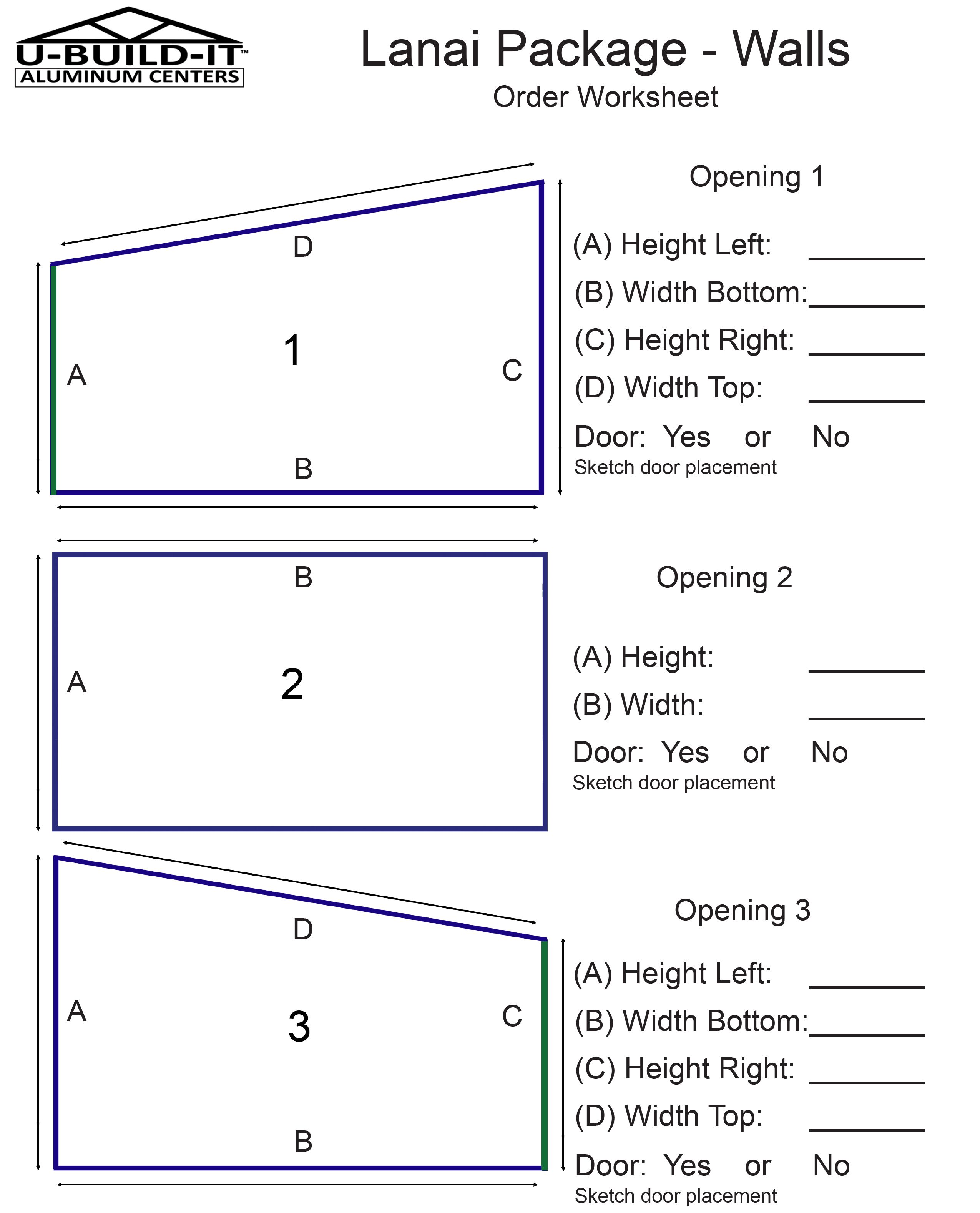 Use This Worksheet To Measure Your Home S Patio This