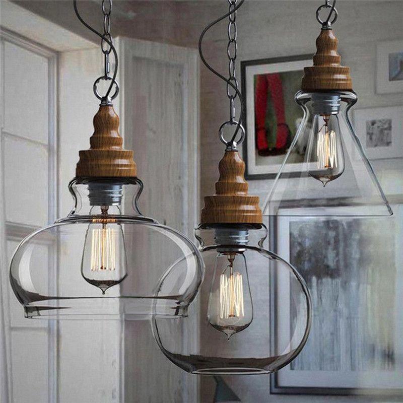 Vintage Lamp Shades Industry Metal Pendant Lamps Chandelier Simple ...