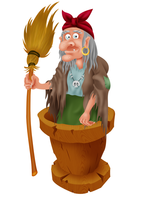 Картинка бабы яги сказочной в ступе