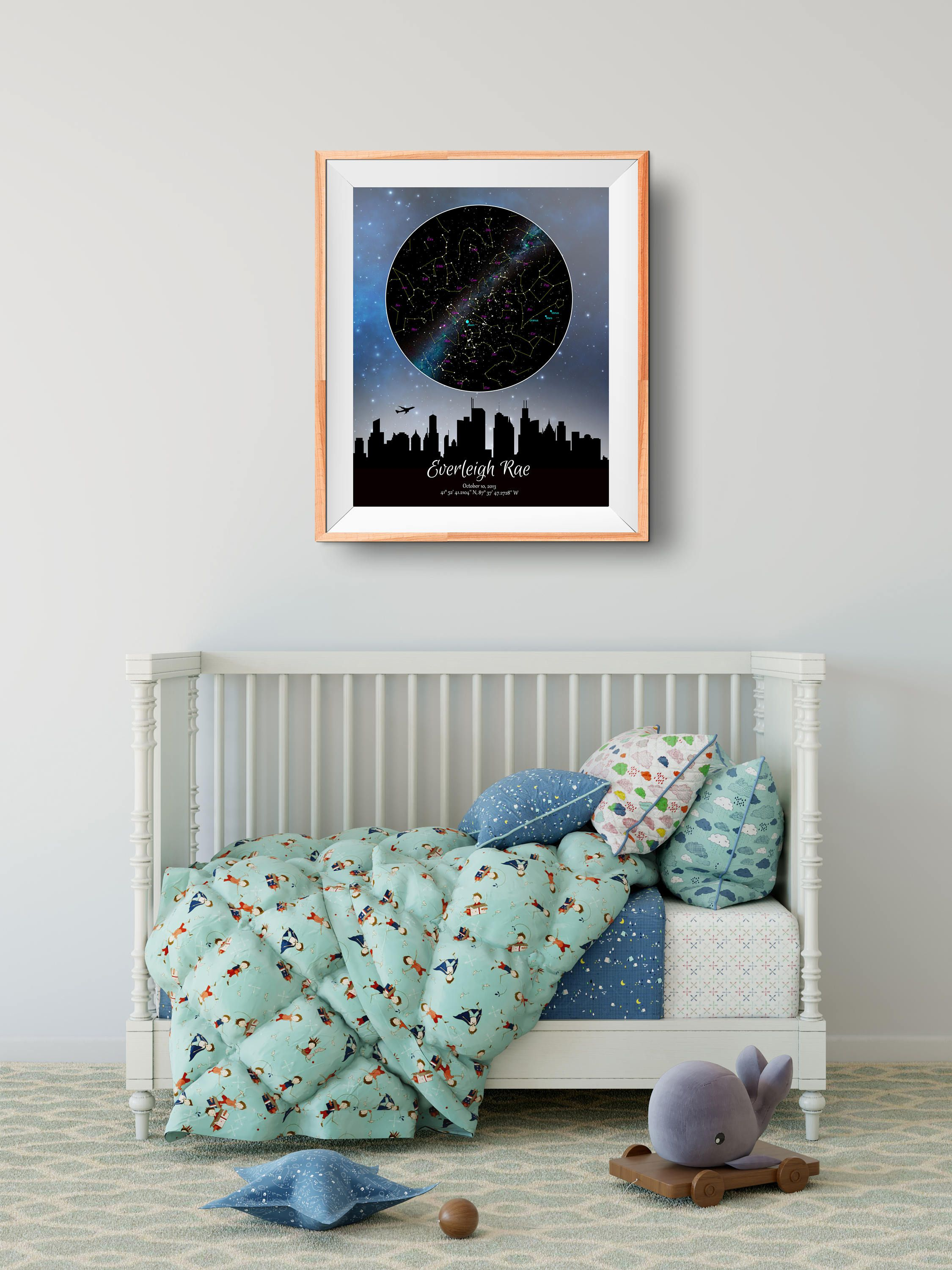 Custom Star Map Home Sweet Home Milky Way Galaxy Blue New Home Real