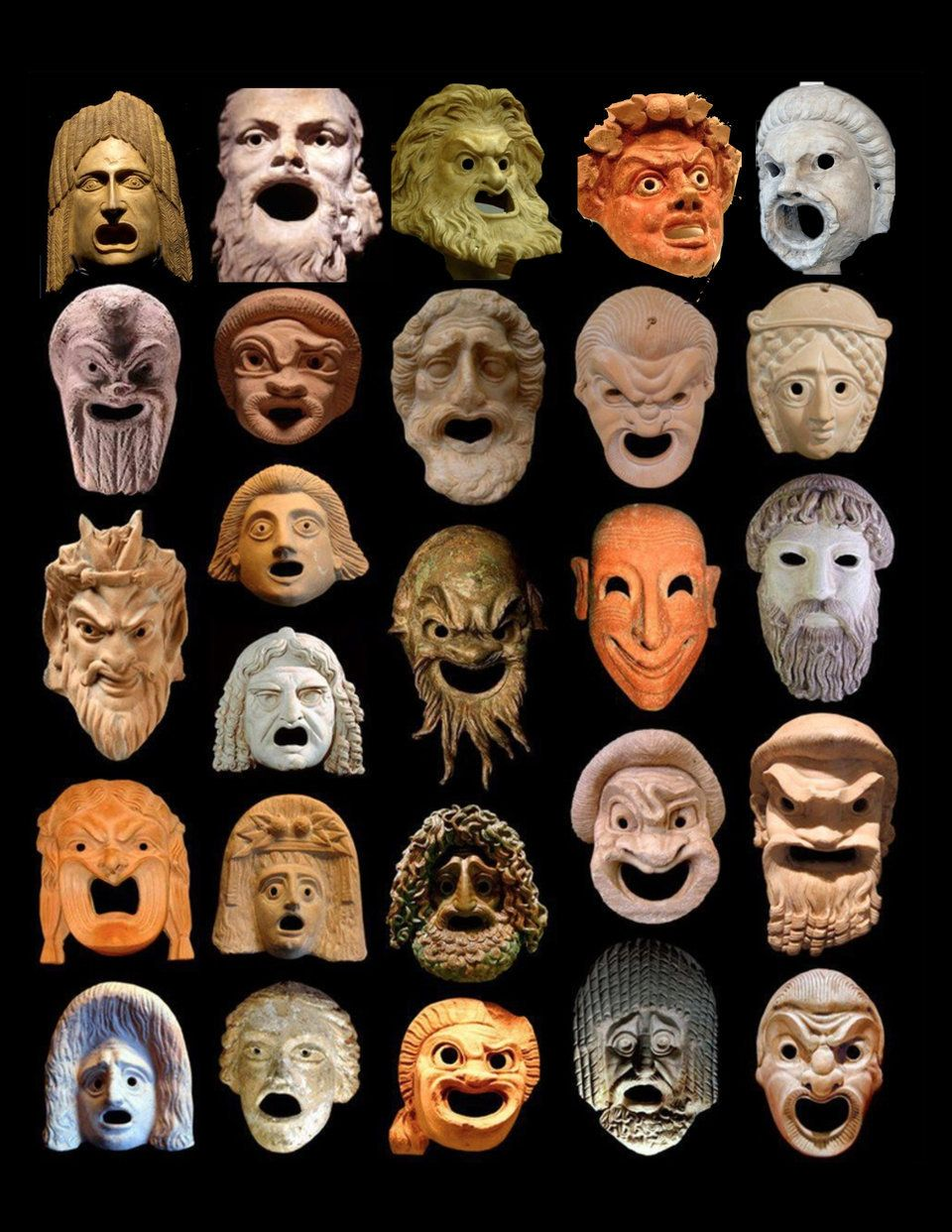 How do you make a Greek mask?