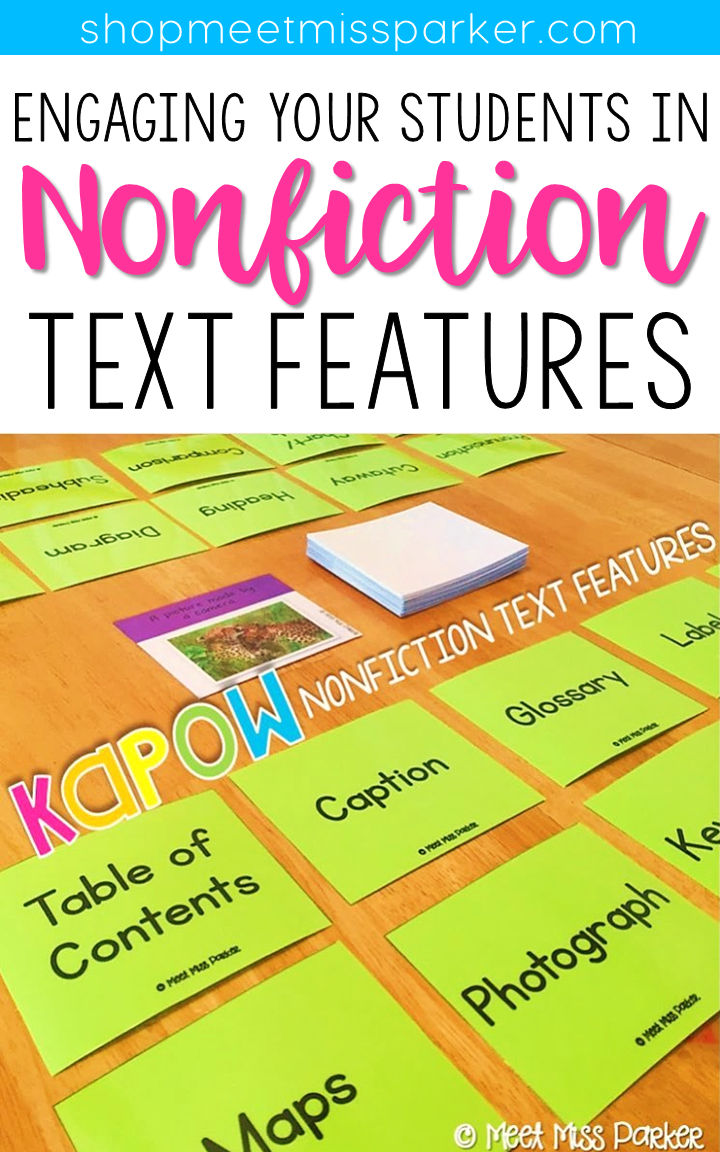 Put down the book examples and bring out KAPOW! This game will have your students laughing through their learning of nonfiction text features!