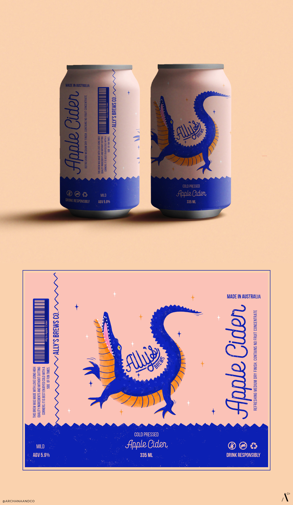 Archana and Co Creates a Fun, Illustrated Beer Label Concept With Ally's Brews