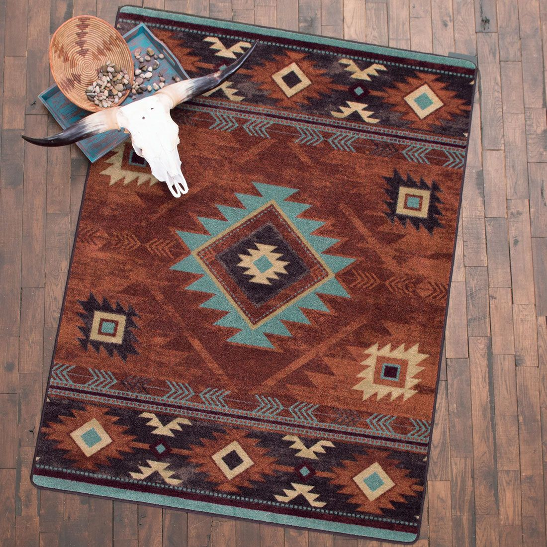 Whiskey River Rust Rug - 3 X 4 In 2019
