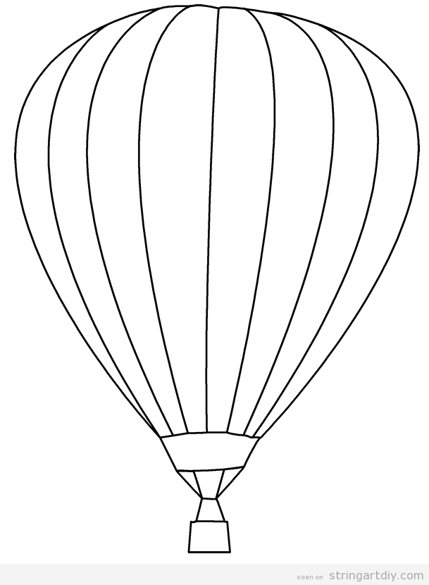 Hot air balloon free and pritnable template | Projects to Try ...