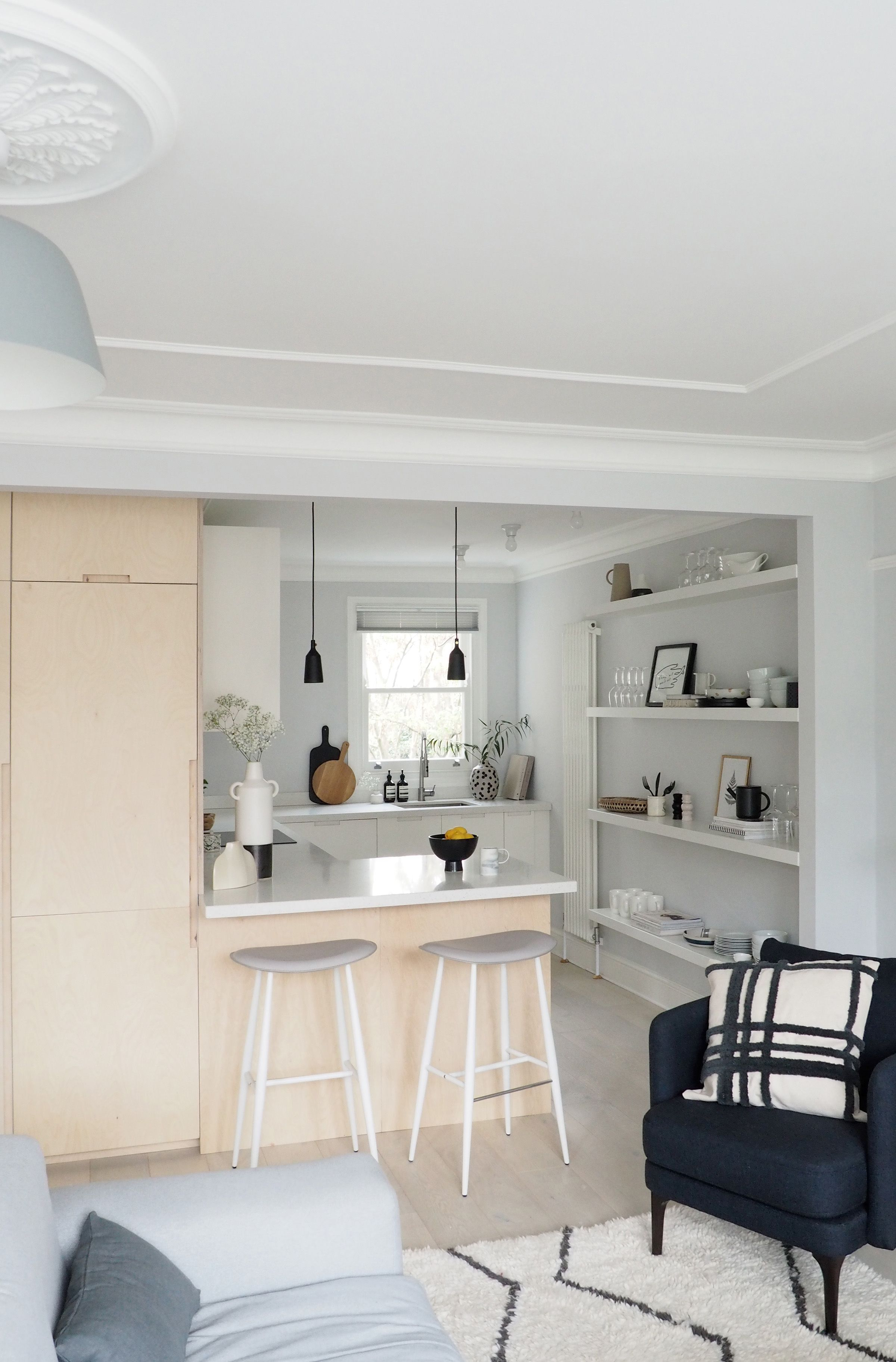new interior project a light filled minimalist kitchen and living room living room and on kitchen interior small space id=18864