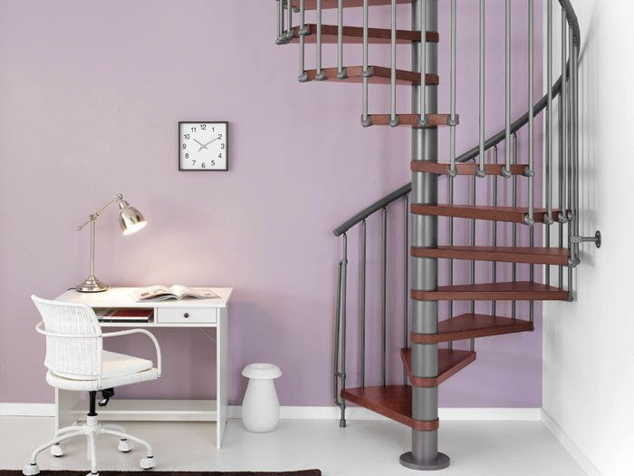 Best Spiral Staircase Metal Frame And Steps Magia50Xtra 400 x 300