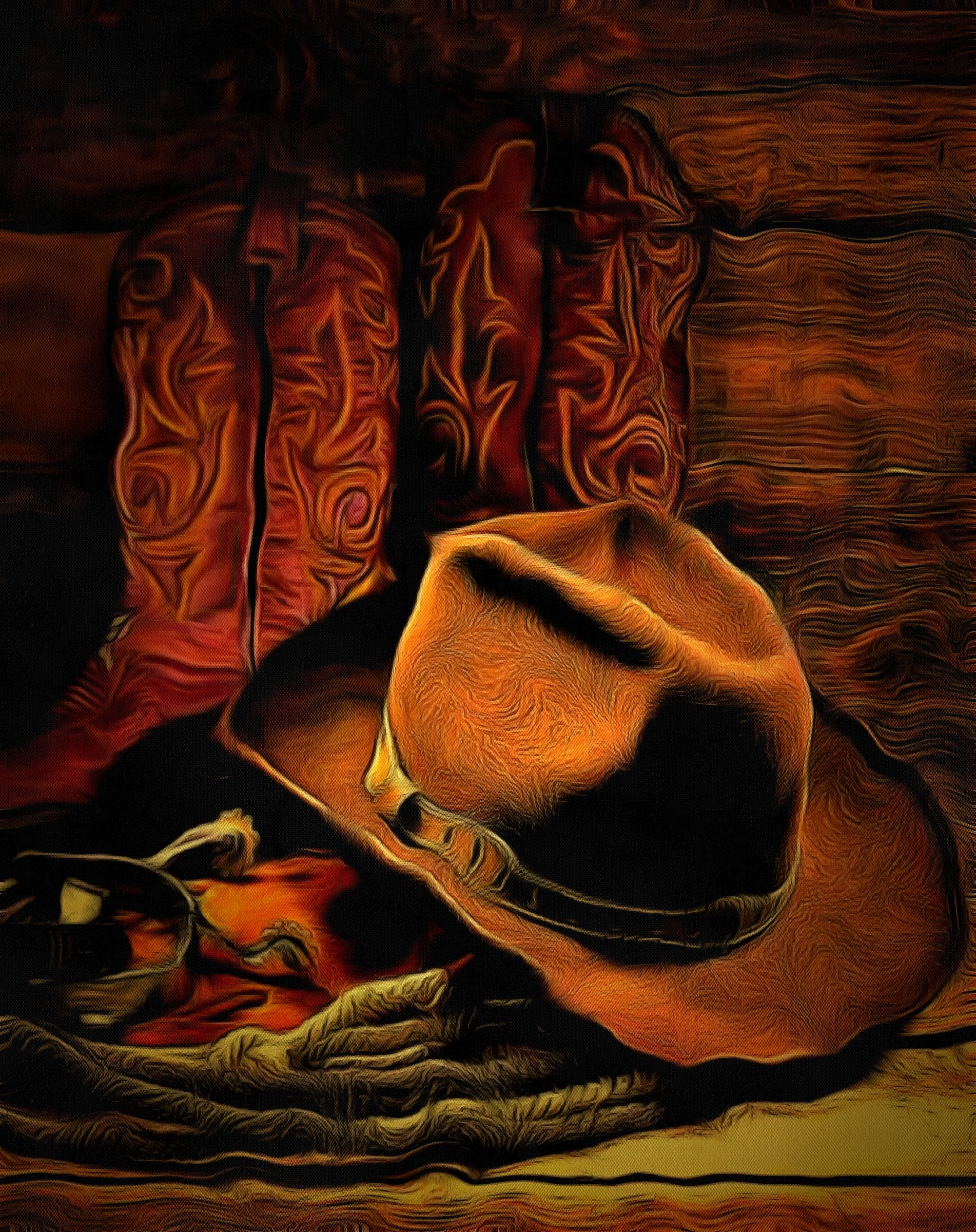 a0d7ce4cdf5 Cowboy Hat Still Life