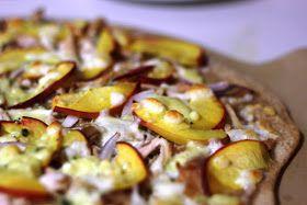 My Big Green Cookbook: Peach Gorgonzola Pizza