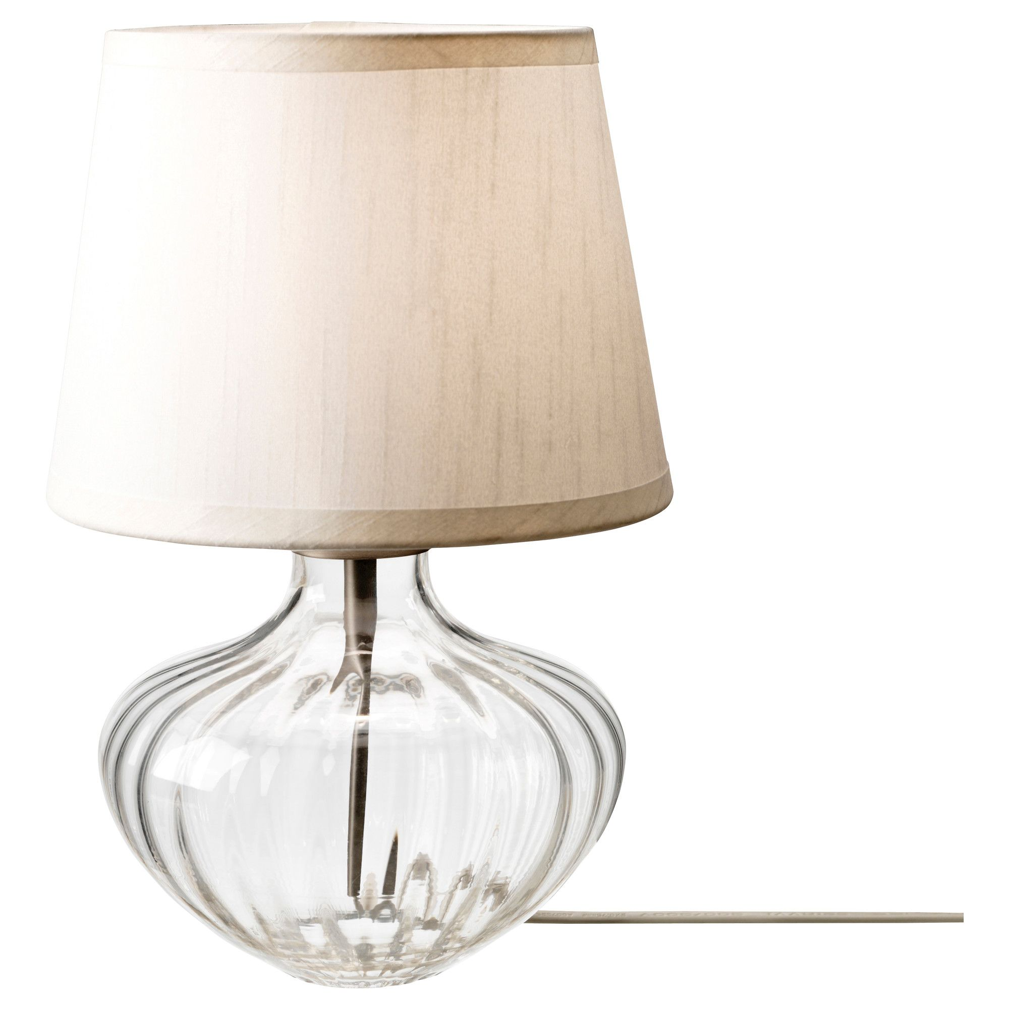 Lampe Ikea En Verre Jonsbo Egby Table Lamp Clear Glass Beige Ikea 19 99