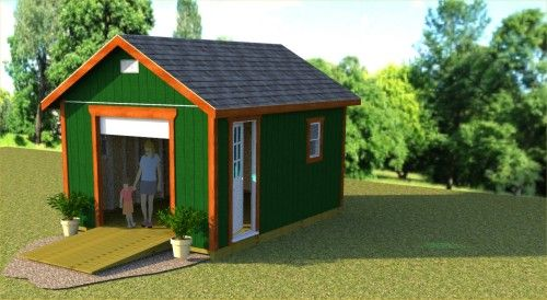 Garden Sheds 12x16 plans for a 12x16 gable shed with 6' roll up shed door and side